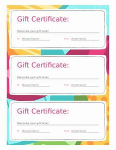 Free Certificate Template Blank Gift Certificate Template Mughals