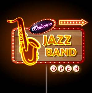 Neon sign jazz bar vector graphics Free vector in