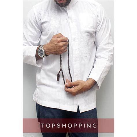 jual baju koko lengan panjang warna putih baju koko premium baju koko baju koko gaul