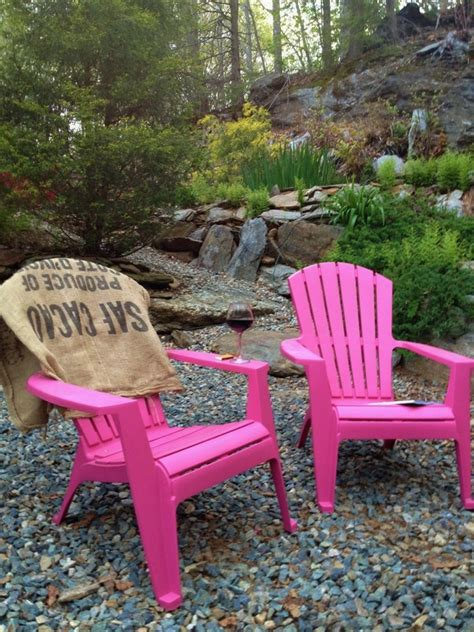 Inspired Plastic Adirondack Chairs In Landscape Eclectic