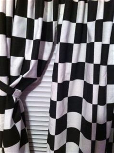 Checkered Flag Window Curtains by Window Curtain Valance Made From Nascar Checkered Flag
