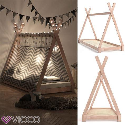 Indianer Tipi Kinderzimmer by Vicco Kinderbett Tipi Indianer Bett Kinderhaus Zelt Holz