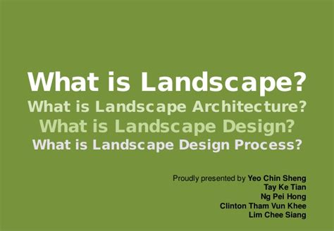 what is landscapping what is landscape what is landscape architecture what is landscape