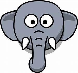 Elephant Head Clip Art at Clker.com - vector clip art ...