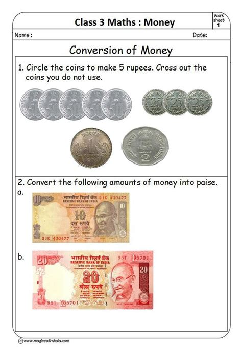 indian money worksheets for grade 1 pdf maths worksheets for grade 2 on indian money national