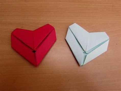 paper letter fold heart easy tutorials