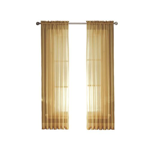 window elements gold solid voile wide sheer rod
