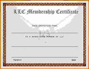 membership certificate templatereference letters words With llc membership certificate template