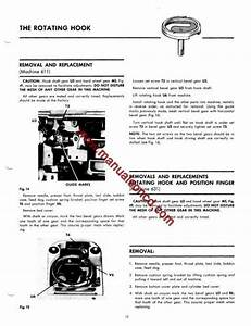 Singer 631 Sewing Machine Service Manual