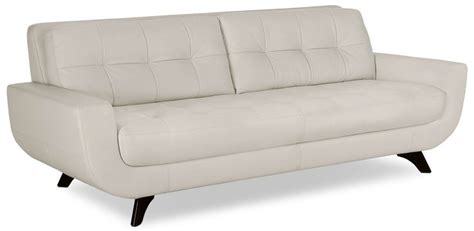 Sofia Vergara Collection Furniture Canada by Sofia Vergara Collection Lena Genuine Leather Sofa Ivory