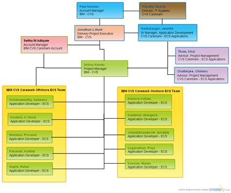 ibm cvs organization chart organizational chart creately