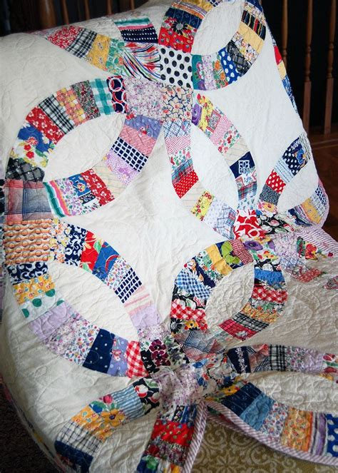double wedding ring quilt p        pinterest