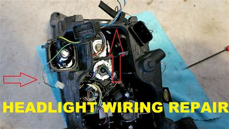 how to repair heat damaged headlight wiring on my e90 bmw