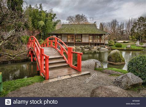 Japanischer Garten Toulouse by Garden Park Teahouse Stockfotos Garden Park Teahouse