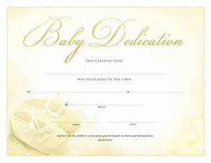 printable baby dedication certificate baby dedication With baby christening certificate template