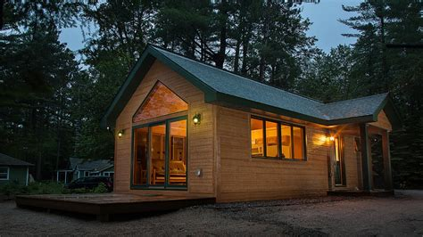 Small Homes : Tiny Cabin By Dickinson Homes-youtube