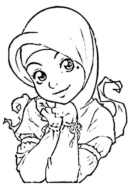 gambar anime muslim hitam putih gambar gambar kartun muslimah hitam putih muslim sketch