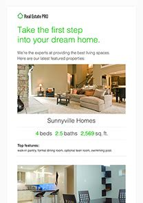 Email Newsletter Templates Real Estate by Free Newsletter Templates Html Email Templates Getresponse