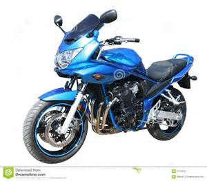 White Blue Motorcycle