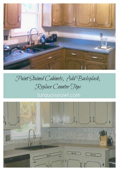 frugal kitchen makeover 6 diy improvements for your kitchen turquoise owl diy 1113