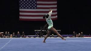 Simone Biles – Floor Exercise – 2018 U.S. Gymnastics ...  Gymnastics