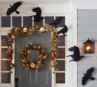 silhouette crows set   pottery barn