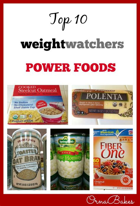 top  weight watchers power foods ornabakes ww