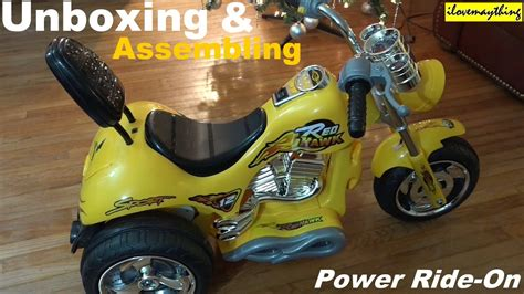Power Ride-on Motorcycle For Kids Unboxing