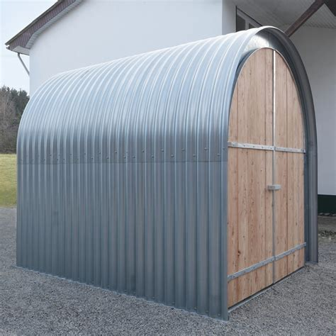 corrugated metal shed gartenhaus wellblech mit holzfront gardens sheds and ps