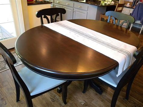 Kitchen Table And Chair Makeover With Stain And Paint