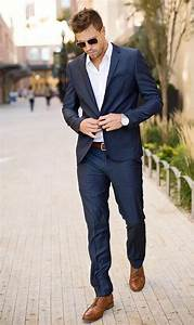 Mens Formal Wear For Holiday Party Navy Blue Tuxedos For ...