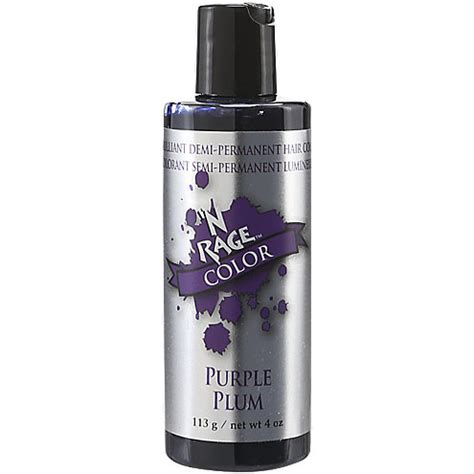 n rage color purple plum n rage demi permanent hair color