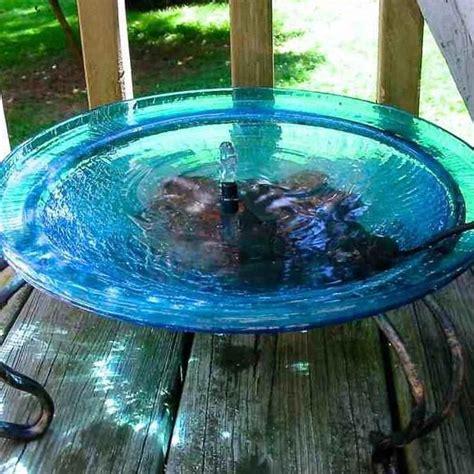 bird solar bath bubbler ground deck mount baths stand