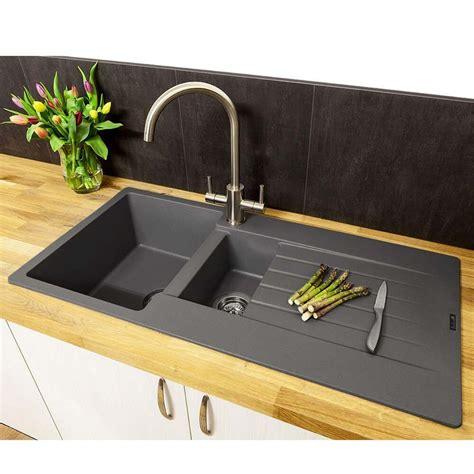 reginox harlem  bowl grey silvery granite composite