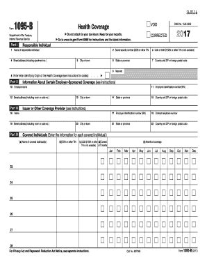health insurance form 1095 b irs form 1095 b printable health coverage template in pdf