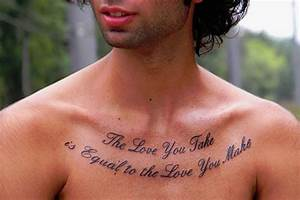 28 Intriguing C... Chest Tattoo Love Quotes