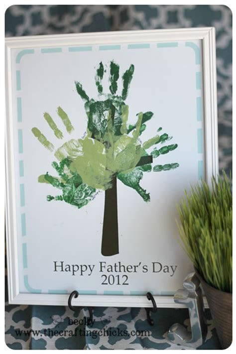 fathers day handprint tree printable fun family crafts