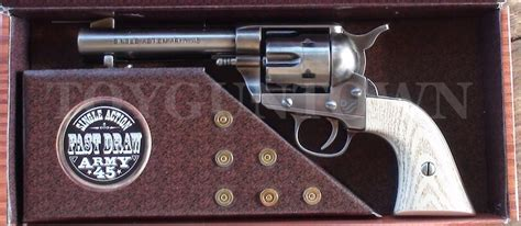wayne single army 45 cap gun west toys