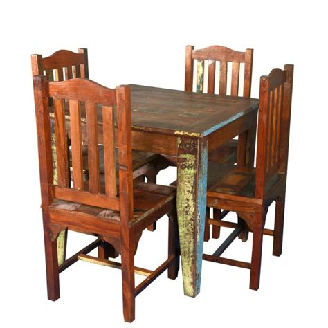 norwalk reclaimed wood square dining table   chairs set