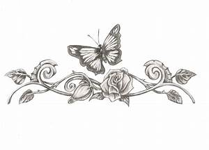 Butterfly Rose Tattoo Designs | butterfly eith rose tattoo ...
