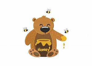 Honey Bear Yum Includes Both Applique and Stitched – Daily ...