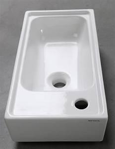 Waschbecken Zum Aufsetzen : hand waschbecken orion keramik weiss 50 x 25 cm eckig neu ebay ~ Markanthonyermac.com Haus und Dekorationen