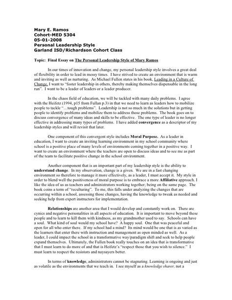 Leadership College Essays Essay Writers Company Leadership Examples