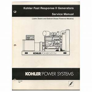 Original 1989 Kohler Fast Response Ii Generators Service