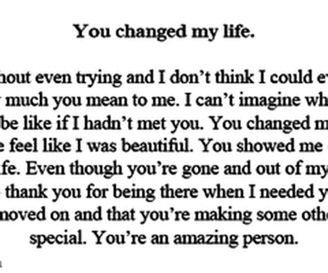 Youve Changed My Life Quotes