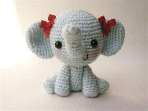 crochet elephant adorable crocheted elephant pattern amigurumi pinterest