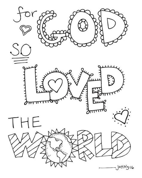 bible verse coloring page  god  loved