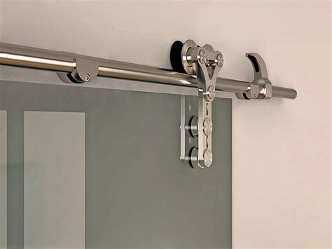 stainless steel barn door hardware 6 6 ft modern stainless steel interior sliding barn glass