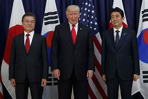 N Korea missile test: Trump, Abe and Moon discuss ...