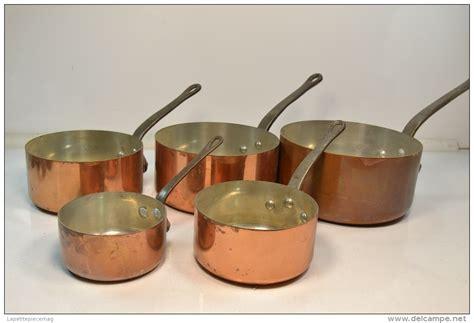batterie cuisine cuivre série batterie de casseroles en cuivre étamé